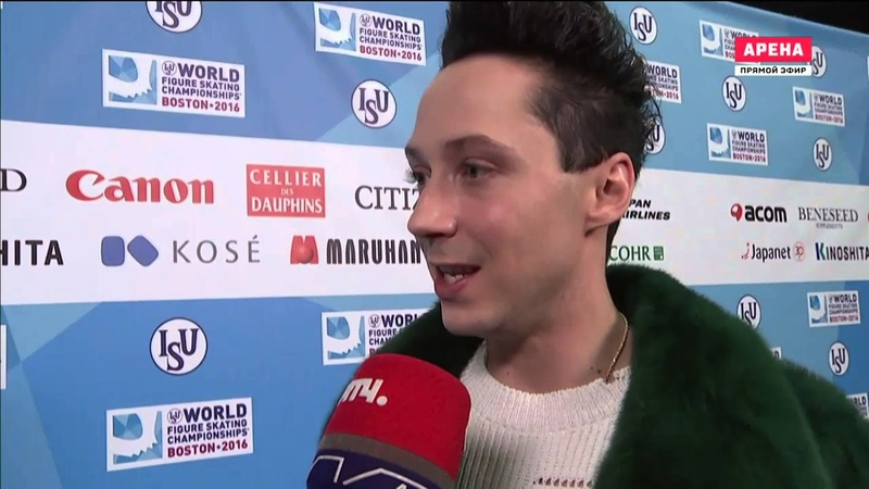 Johnny Weir - interview for Russian TV 31/03/2016