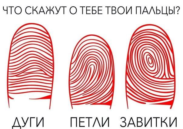 ШТРИХ - КОД СУДЬБЫ Что означает каждый узор на твоем пальце? Внимательно присмотрись на подушечки своих пальцев, определи узор и читай его значение. 1. Дуги - такой рисунок характерен для людей с... Читать дальше - »>