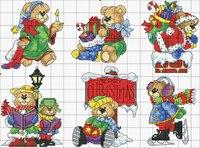 Схема вышивки крестом в формате РМ.  Новогодние мишки 23 цвета. http://depositfiles.com/files/657gxcfc6.