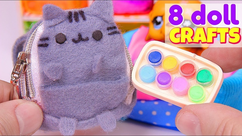 8 DIY Doll Crafts Miniature Pusheen Backpack