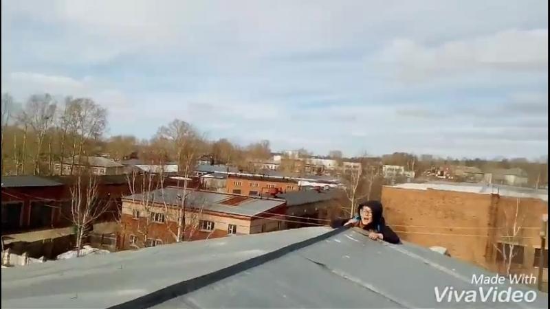 Мини влог| САЛЬТУШКИ! Залезли на крышу!