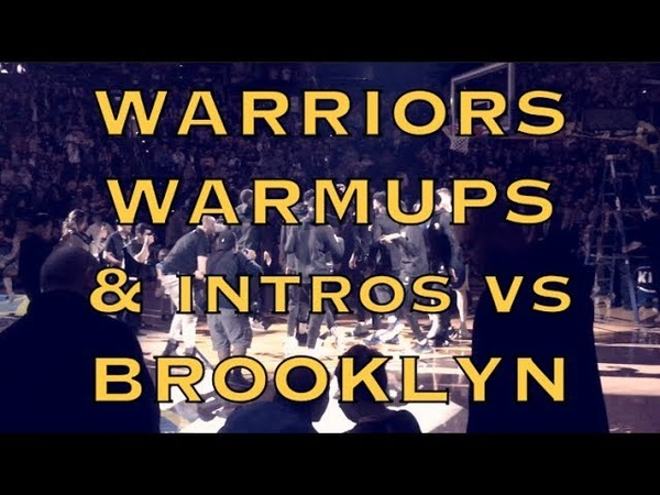 Warmups intros rituals from Warriors 10 2 pregame before Brooklyn Nets at Oracle Arena