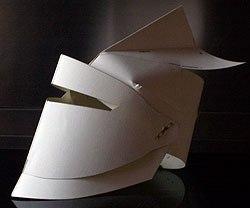 Как сделать рыцарский шлем из картона своими