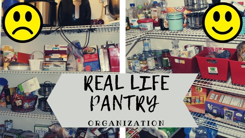 PANTRY ORGANIZATION HACKS | REALISTIC BEFORE AFTER