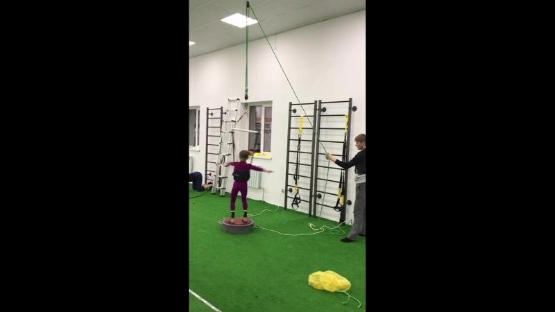 Тренировка на тренажере Мишина