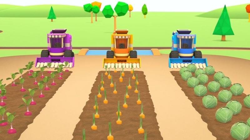 I veicoli da lavoro e l'orto - il lavoro in campagna! - cartoni animati