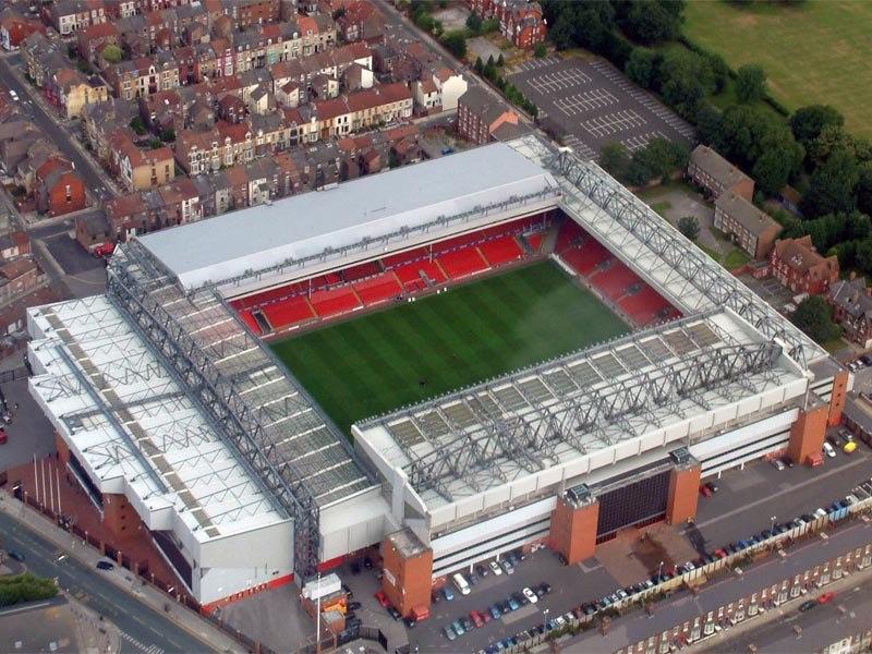 Стадион Энфилд Роуд (Anfield Road). Ливерпуль, Англия.