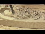 Резная кровать 2 часть, резьба по дереву