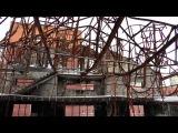 В сгоревшем Русском центре г. Железнодорожного. Съемки 04.02.14.