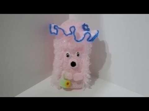Мастер - класс по вязанию мочалки-игрушки Ежик часть № 1