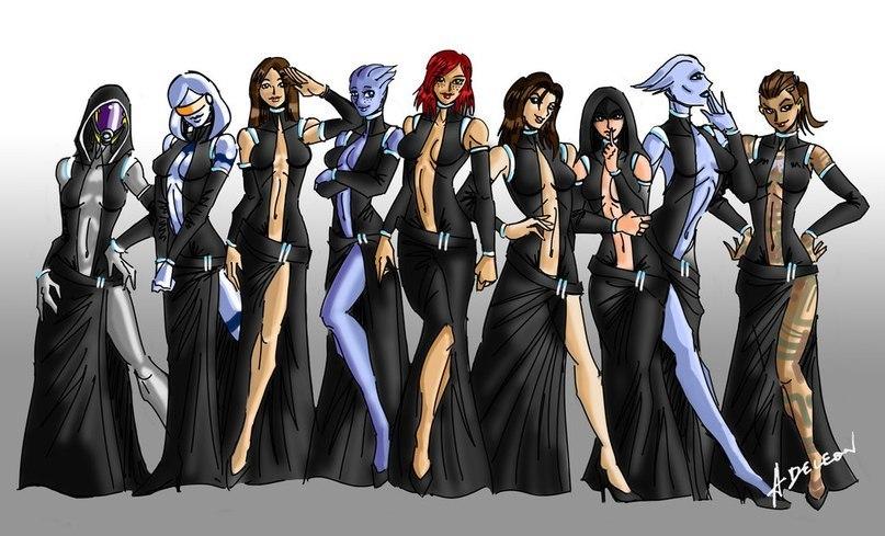 Mass Effect,девушки,Игры,Tali,ME персонажи,EDI,Ashley,Liara,Femshep,Miranda