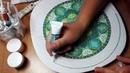 Точечная роспись. Декоративная тарелка на стену