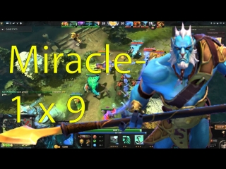 Dota 2 Phantom Lancer 9k MIRACE gameplay with 3 russian autistic and QOP
