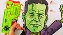 Оружие для детей. Макс открывает пистолет Nerf Zombie Strike. Стреляем в зомби. Видео для детей