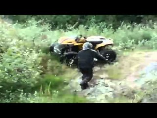 Atv Roll Over - Quad Gets Wrecked