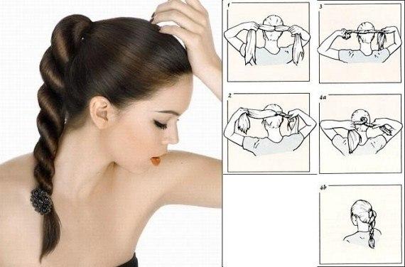 Как сделать самой себе лёгкую причёску