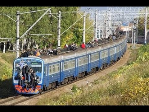 Сходка Сверхразумов Зацеперы Индия На крыше электрички ЗЦПЧ TrainSurfing in Russia ЯРИК