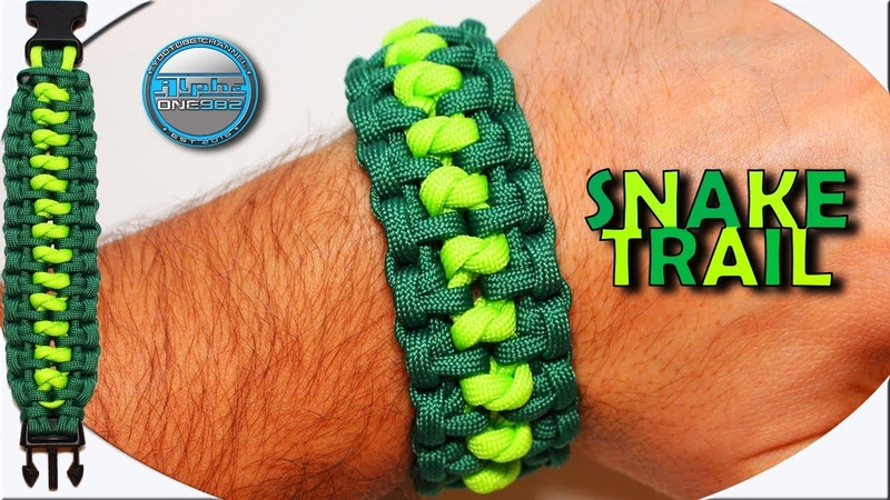 Epic How to Make Paracord Bracelet Snake Trail DIY Paracord Tutorial for Beginners