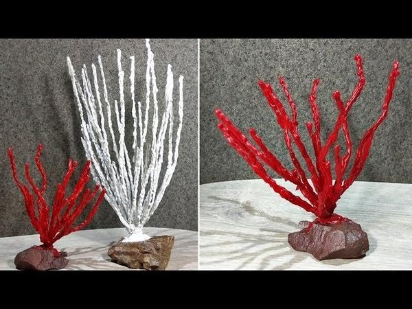 Кораллы из горячего клея и проволоки. Декор или поделки из горячего клея