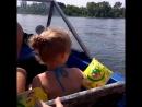 Заюшку катают на катере