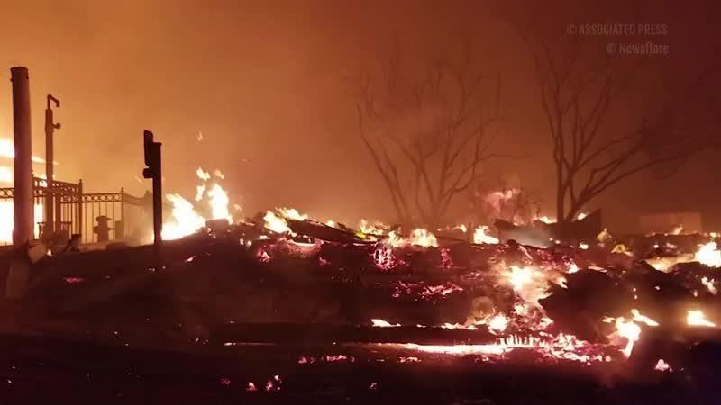 Ядовитый дым и пепелище: видео страшного пожара в Калифорнии