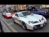 Arab Supercar Invasion in London, August 2013 - Huayra, 2X SLR 722, Veyron and more!