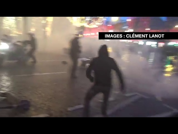 Gilets jaunes Provocation policière Manisfestants Agressés, un policier sort son arme (209mn)