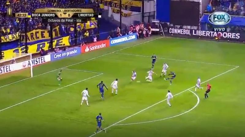 Boca Juniors vs Libertad 2-0 Gol de Mauro Zarate - Copa Libertadores