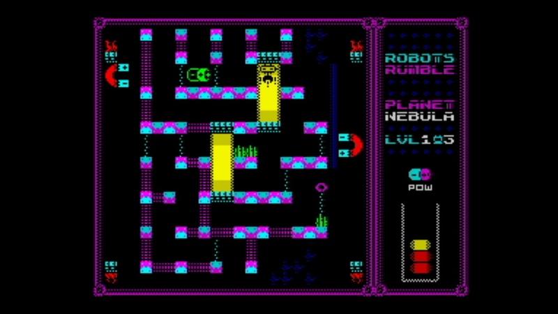 Robots Rumble (2018) Walkthrough Review, ZX Spectrum