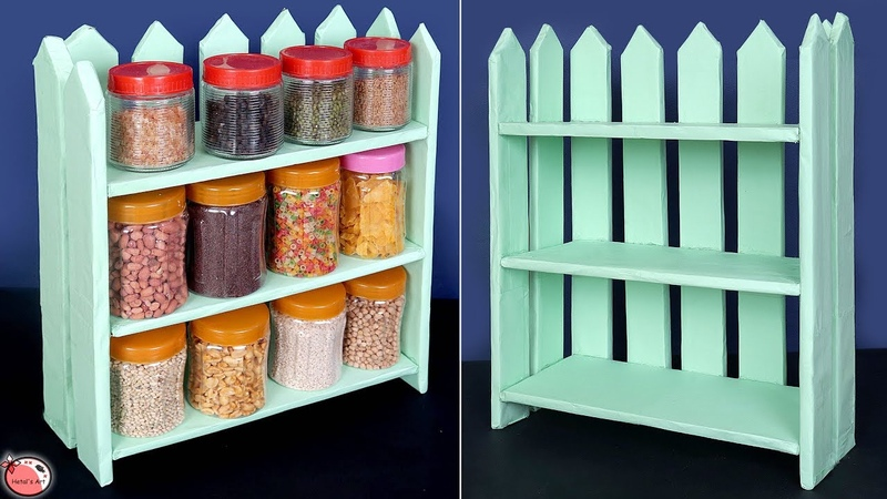 DIY Storage Ideas for a Small Kitchen || Best Out Of Waste Idea 2019 || Organization Ideas