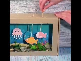 Игрушки из картонной коробки