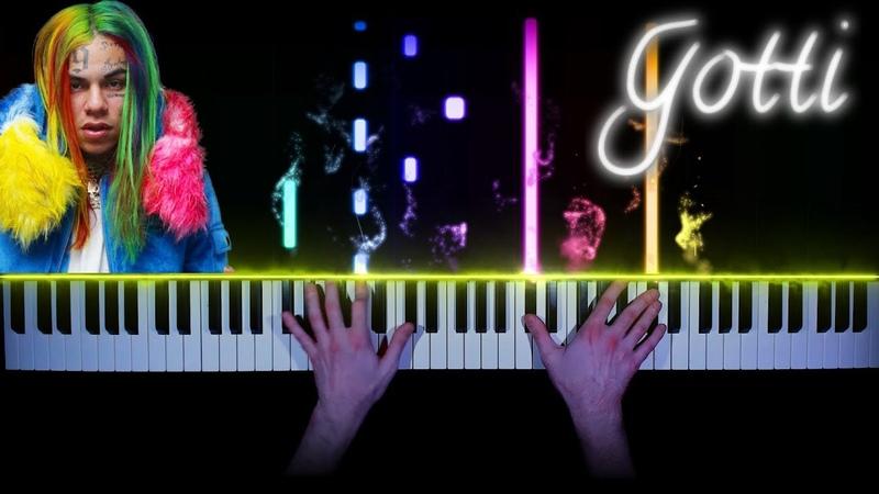 6ix9ine - GOTTI - sad piano version | tutorial | how to play