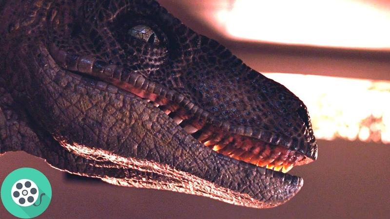 Лекси и брат прячутся от динозавров на кухне. Парк Юрского периода (1993) год.
