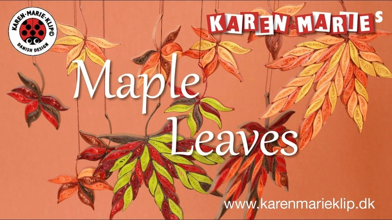 Quilling Maple Leaves - Karen Marie Klip Papir