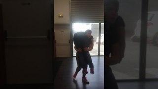 Laetitia fireman carry nico