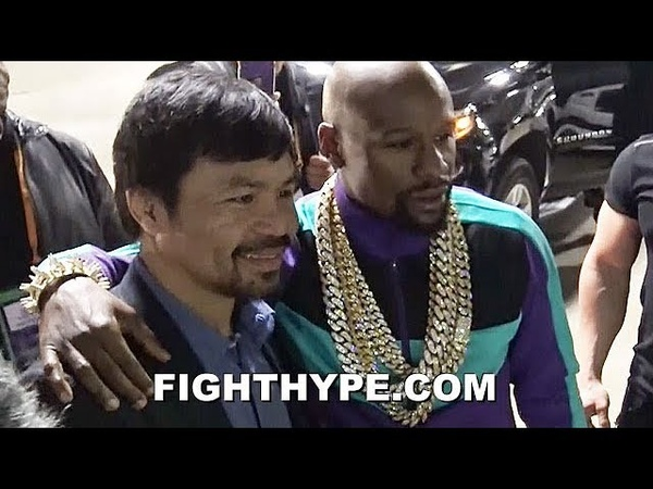 (EPIC!) MAYWEATHER AND PACQUIAO REUNITE, TAKE PIC AFTER SPENCE DOMINATES GARCIA CALLS OUT MANNY