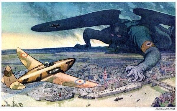 Екінші дүниежүзілік соғыс кезіндегі Британ плакаты