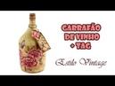 Garrafão de Vinho Estilo Vintage e TAG