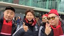 "Kim Jong Kook and HaHa from ""Big picture"" in Korea.  ""Манчестер Юнайтед"" - ""Арсенал"", апрель 2018, встреча с болельщиками  Manchester United v Arsenal, April 2018,  Meet The Fans."