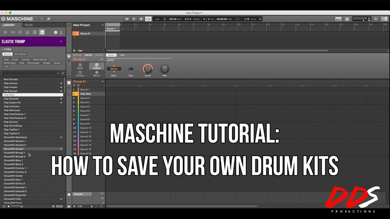 Maschine Tutorial How To Save Your Own Drum Kits in Maschine