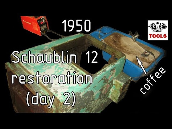 Реставрация Шаублин 12 день 2 Schaublin 12 restoration day 2 EN sub