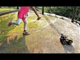Playing With High Speed Jeep Car Kids Toys Village Eram AR Toys EP4