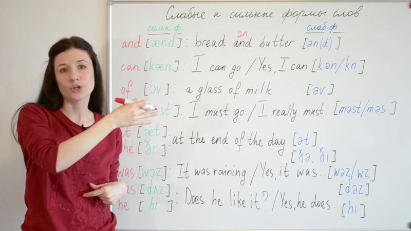 Как произносить COULD, или слабые и сильные формы слов.