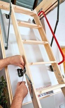Как установить чердачную лестницу-люк