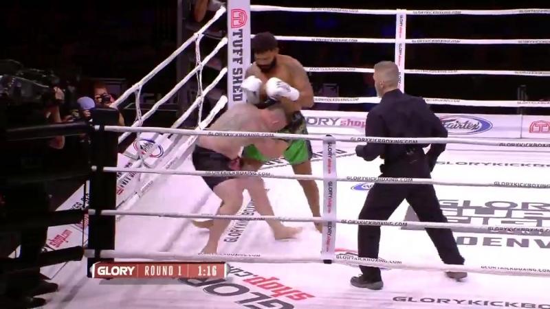 GLORY56 Results: Myron Dennis def. Steve Paprocki by TKO (three knockdowns). Round 1, 1:49