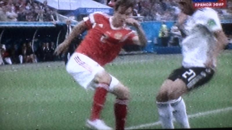 20-06-2018 Чемпионат мира по футболу. Россий с Египтом со счётом 3-1 победила сб. Россий.