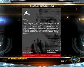 Джордан пишет поздравление в нба2к13