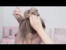 10 небрежных пучков в школу на каждый день в институт на работу ★ Для длинных средних волос mp4