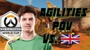 Agilities amazing match against UK at OWWC 2018 [Overwatch World Cup 2018]