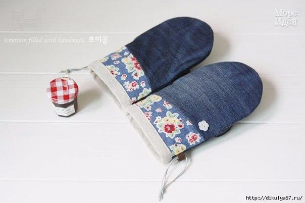 Шьем прихватки из старых джинсов (9 фото) - картинка
